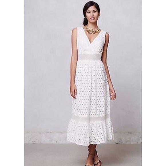 Anthropologie Dresses   Skirts - ANTHROPOLOGY Mallorca Midi Dress in White 2699233ea